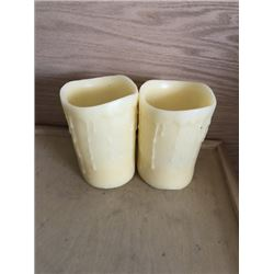 Off White Flameless Candles