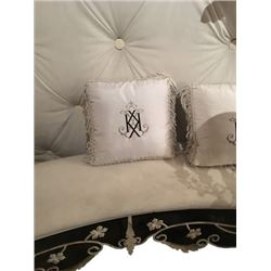 Monogram Pillow from Kim Kardashian Wedding