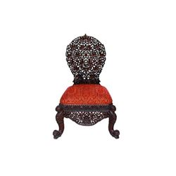 Moroccan Carved Chair Ottoman