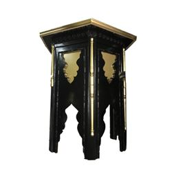 Moroccan Stand Up Black Table