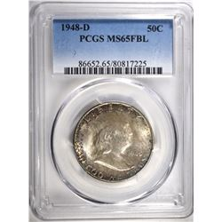 1948-D FRANKLIN HALF PCGS MS-65 FBL