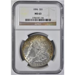 1896 MORGAN DOLLAR NGC MS63 COLOR