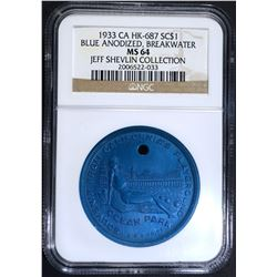 1933 CA SO CALLED DOLLAR, NGC MS-64 HK-687
