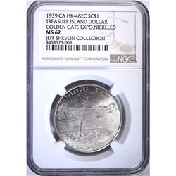 1939 CA HK-482C SO CALLED DOLLAR, NGC MS-62