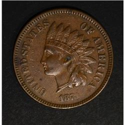 1873 INDIAN CENT  XF+