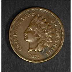 1872 INDIAN CENT VF KEY DATE