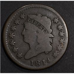 1814 LARGE CENT  CH G/VG