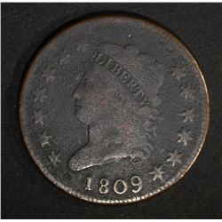 1809 CLASSIC HEAD LARGE CENT  VG/FINE
