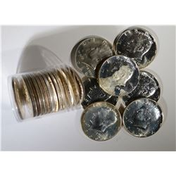 MIXED DATE ROLL OF BU SMS KENNEDY HALVES