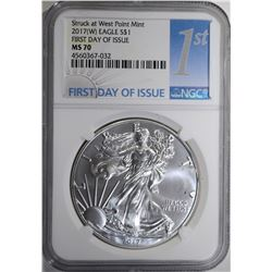 2017(W) AMERICAN SILVER EAGLE NGC MS 70