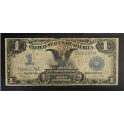 "1899 $1.00 ""BLACK EAGLE"" SILVER CERTIFICATE, GOOD"