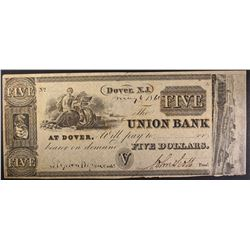 $5.00 UNION BANK AT DOVER NJ NOTE, NICE