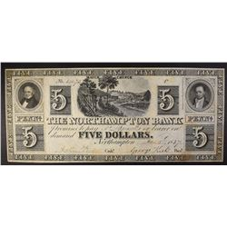 $5.00 NOTE, NORTH HAMPTON BANK HIGHER GRADE