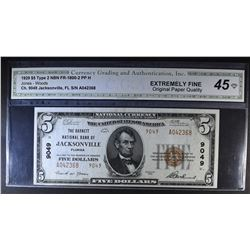 1929 TYPE 2 $5 NATIONAL CURRENCY CH. 9049