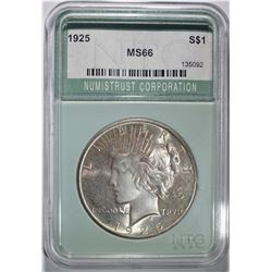 1925 PEACE DOLLAR  NTC SUPERB GEM