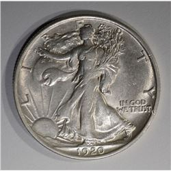 1920 WALKING LIBERTY HALF DOLLAR  AU/BU