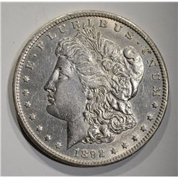1892-CC MORGAN DOLLAR  AU/BU