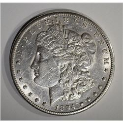 1894-S MORGAN DOLLAR  AU+