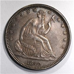 1840-O SEATED LIBERTY HALF AU/BU