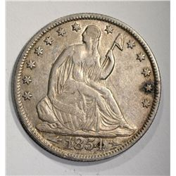 1854-O SEATED LIBERTY HALF XF