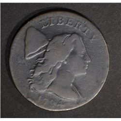 1794 LARGE CENT  F+/AG
