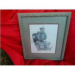 FRAMED LIMITED EDITION PICTURE - TRAIN #5 - BY SALLY WHIBLEY