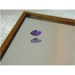 GEMSTONE - AMETHYST - MARQUIS FACETED - 4.8 X 2.6 X 2.4mm