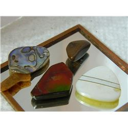 GEMSTONES & OTHER - ABALONE & MORE - 5.7gm - 5PC TTL