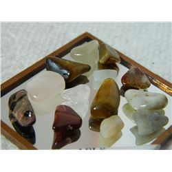 GEMSTONES - ASSORTED FREE FORM POLISHED- ~34CT - 13PC TTL