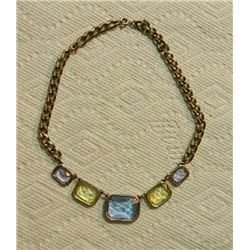 NECKLACE - SAPPHIRE, CITRINE & AMETHYST COLOR GEMS