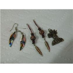 PENDANT & EARRINGS - 3 PC TTL - some may be as-is