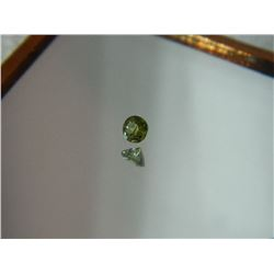 GEMSTONE - PERIDOT - ROUND FACETED - 3.5 X 2.2mm