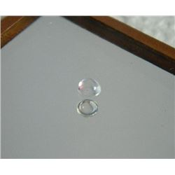 GEMSTONE - WHITE TOPAZ - ROUND CABACHON - 3.1 X 1.8mm