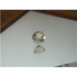 GEMSTONE - WHITE TOPAZ - ROUND FACETED - 5.1 X 3.6mm