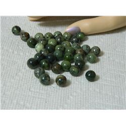 GEMSTONE BEADS - GREEN JASPER mm - 37pc