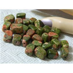 GEMSTONE BEADS - UNAKITE SODALITE 12.8 mm - 30pc