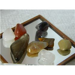 GEMSTONES - ASSORTED FREE FORM POLISHED - ~35CT - 8PC TTL