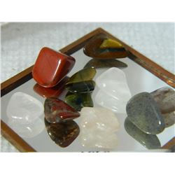 GEMSTONES - ASSORTED FREE FORM POLISHED- ~32CT - 9PC TTL
