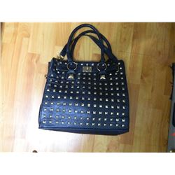 PURSE FROM ESTATE - ?LA  EXPRESS? -  BLACK STUDDED AS-IS - SEE PICTURES