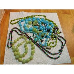 BEADS - LOOSE AND NECKLACES - AS-IS