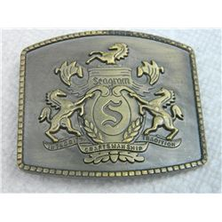BELT BUCKLE - SEAGRAM - 2 3/4 X 2 ½""