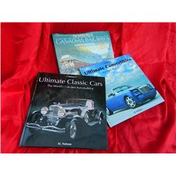 COFFEE TABLE BOOKS - CANADIAN RAILWAYS, ULTIMATE CLASSICS, CONVERTABLES = 3 TTL
