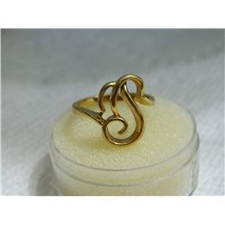 FROM ESTATE - RING - TESTED CLAD IN 10K YELLOW GOLD - SZ  7