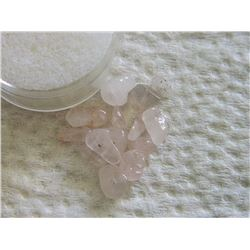 GEMSTONES - NATURAL ROSE QUARTS - ALL POLISHED FREE FORM GEMS/BEADS - ABOUT 12+ PCS