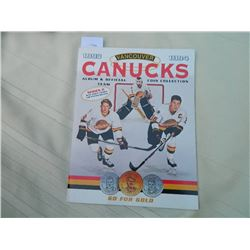 CANUCK COIN COLLECTION - SERIES II - 1993-94 - INCLUDES SOME COINS