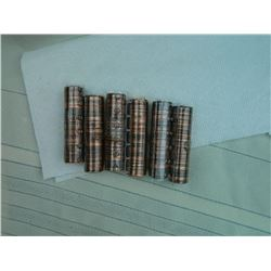 COINS - ROLLS OF ASSORTED PENNIES - 6 TTL
