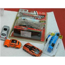 BAG OF ASSORTED TOY CARS - 5 TTL - SOME NEW IN PACKAGE