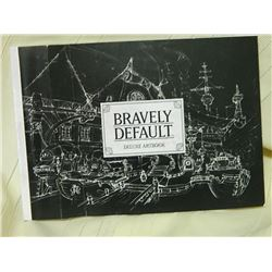 BRAVELY DEFAULT - DELUS ART BOOK - COVER HAS FOLDS