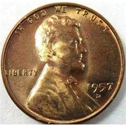 1957-D Lincoln Wheat Back Cent