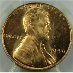 1940-P Lincoln Wheat Back Cent PCGS MS-66